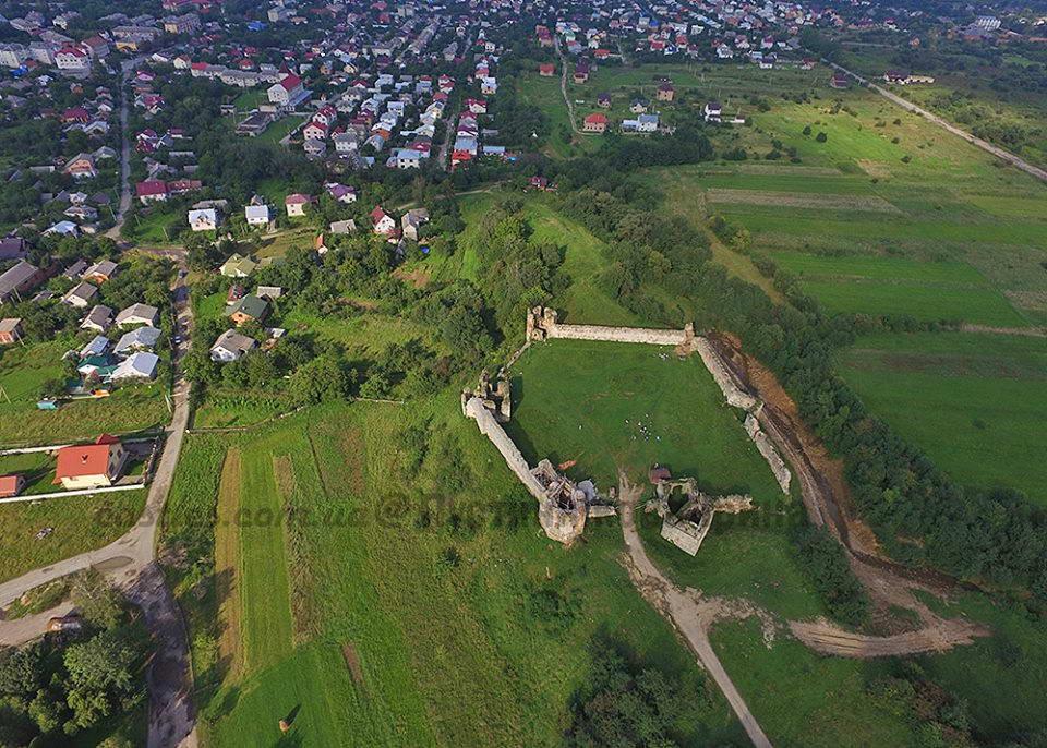 2018 р. Аерофотознімок замку