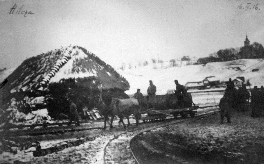 1916 р. Панорама села з церквою в…
