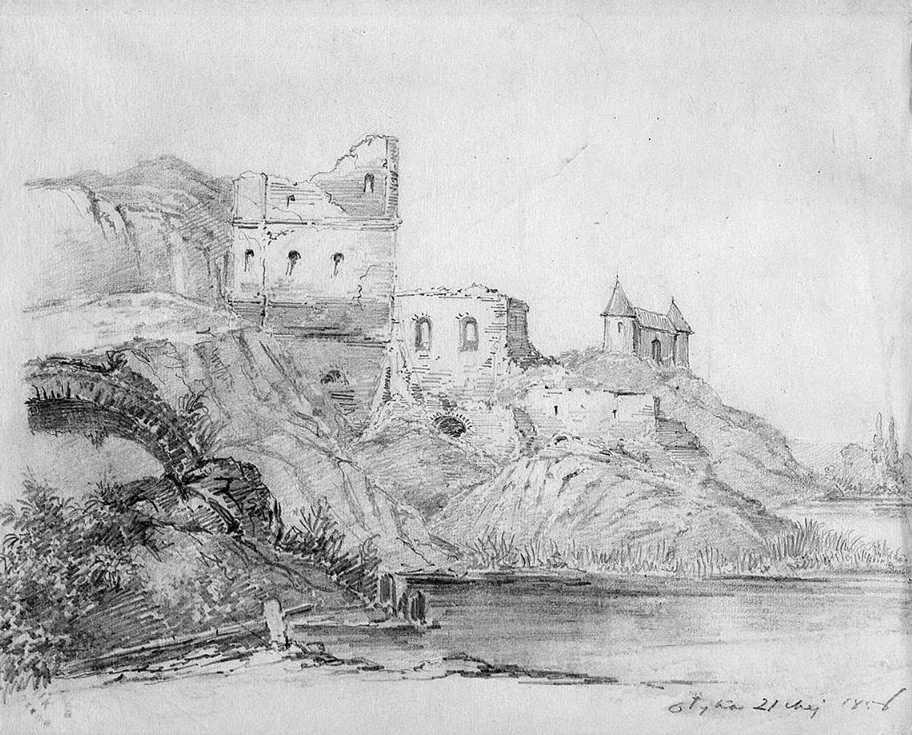 1856 р. Вигляд з боку річки