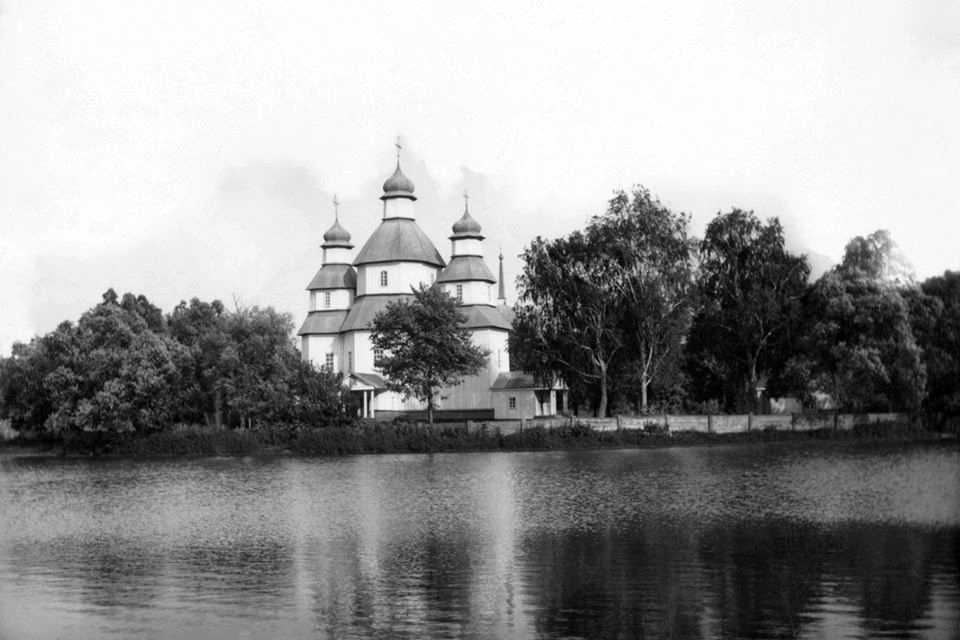 1905 р. Панорама ставка і церкви