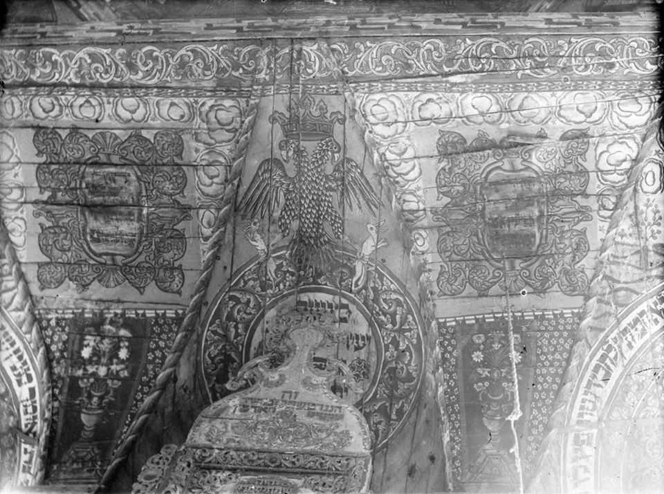 Фрагмент стінопису з двоголовим орлом