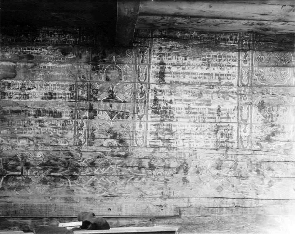 Фрагмент стінопису з написами