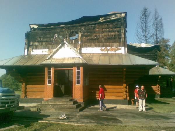 Церква Св. Василія Великого після пожежі