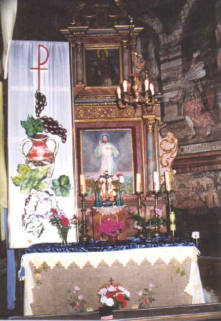 [2006 р.] Бічний вівтар з образом Христа болісного