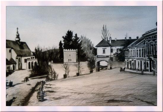 1905 р. Вид міста (поштівка)