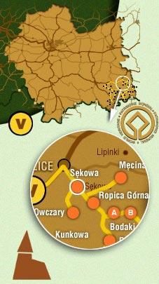 Схема розташування села