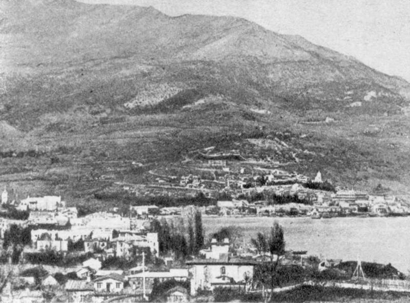 Panorama of Yalta from the west. Photo…
