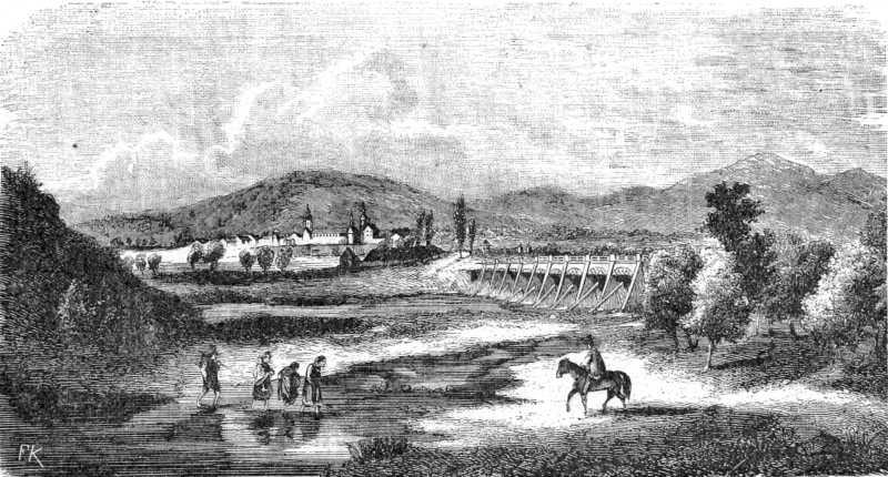 Вид містечка і кляштора св.Клари