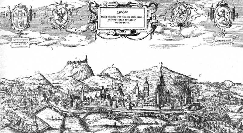 1618 р. Панорама міста (гравюра-копія)