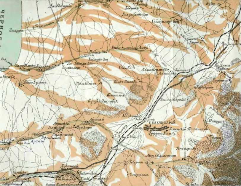 [1913 р.] Картосхема околиць Бахчисарая