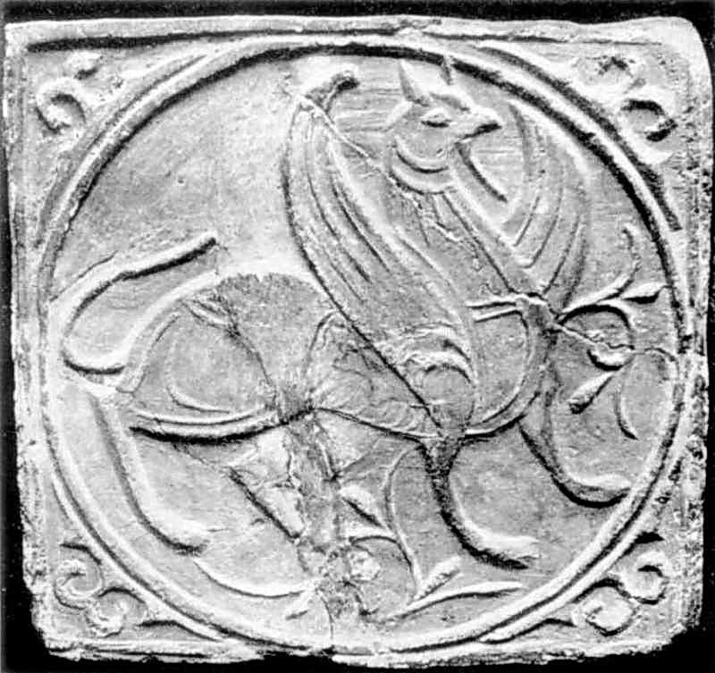 Керамічна плитка з зображенням грифона