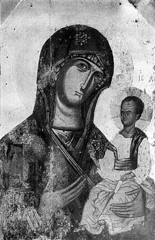 Богородиця Одигітрія. Ікона 14 ст.