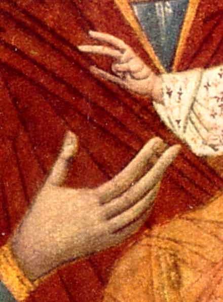 Руки Марії та Ісуса