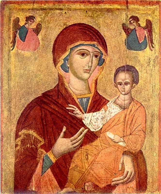 Богородиця Одигітрія. Ікона кін. 15 ст.