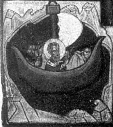 Клеймо 5: Микола рятує мореплавців