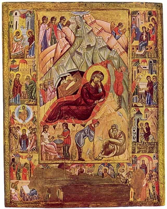Різдво Христове. Ікона сер. 16 ст.