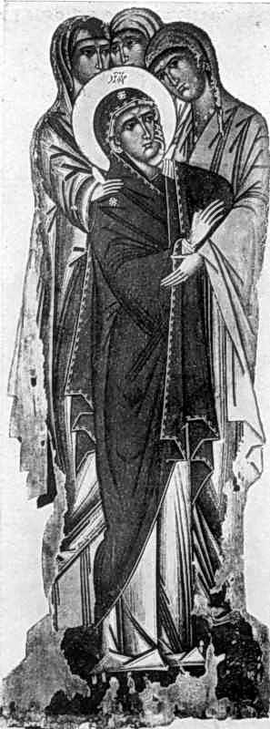 Розп'яття. Ікона кін. 15 – поч. 16 ст.: пристоячі