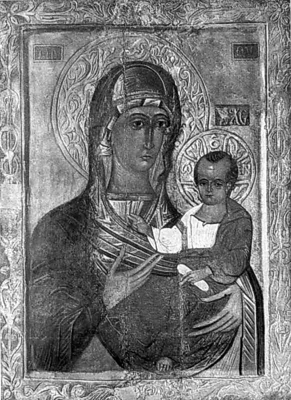 Богородиця Одигітрія. Ікона 3 чв. 16 ст.