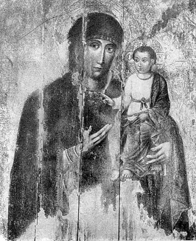 Богородиця Одигітрія. Ікона поч. 17 ст.