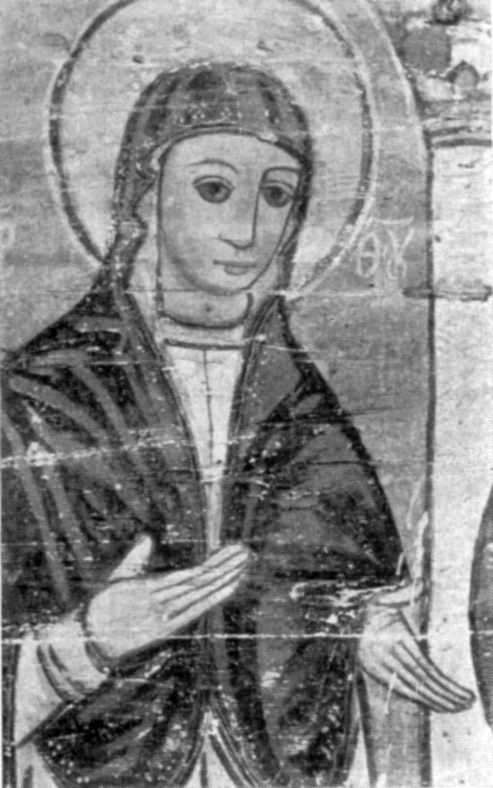 Богородиця. Розпис XVII ст.