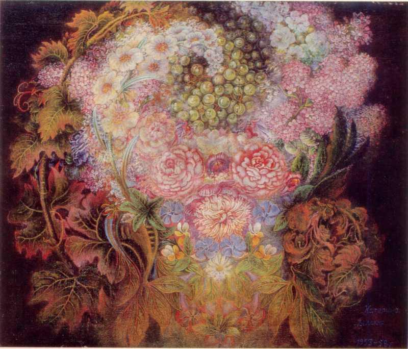 Білокур К.В. Квіти й калина