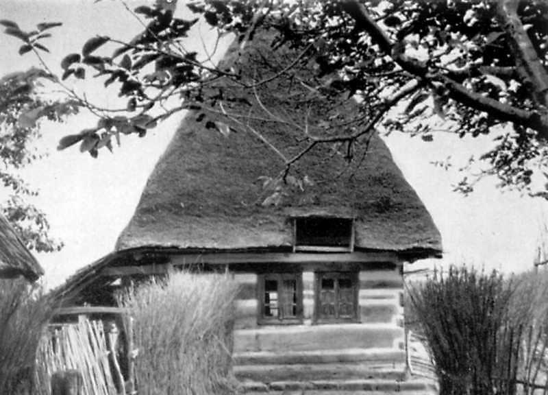 [1976 р.] Хата. Торцевий фасад