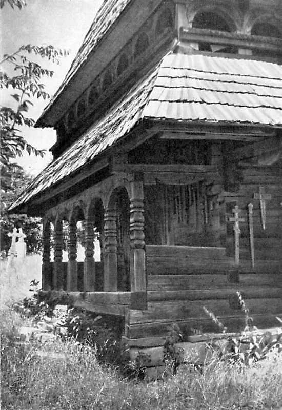 [1976 р.] Галерея невідомої церкви. Вигляд з позиції А3