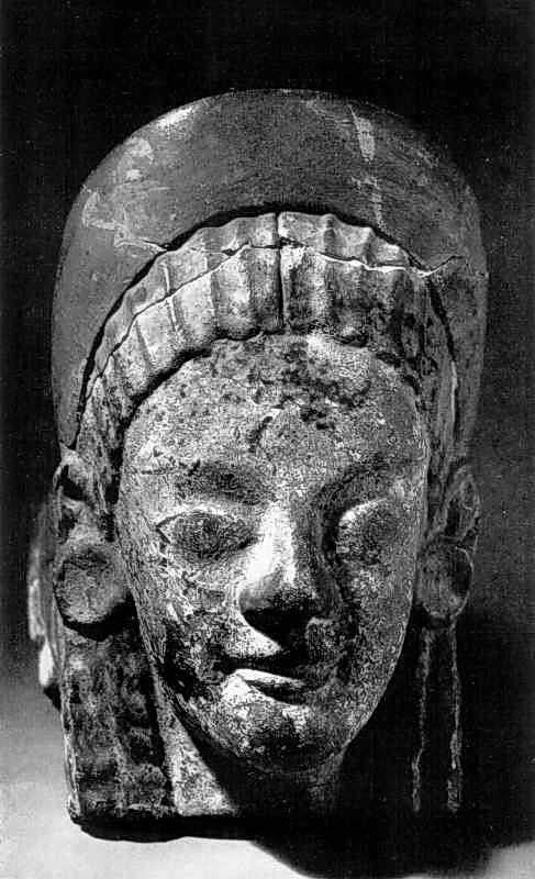 Антефікс у вигляді жіночої голови