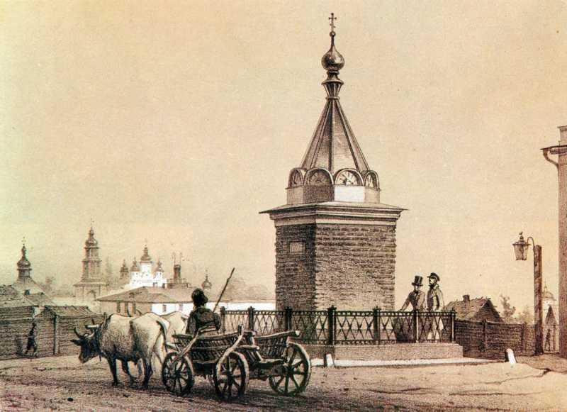 1858 р. Стовп, перетворений на каплицю