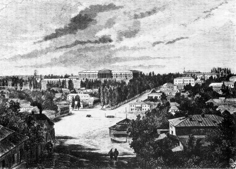 1873 р. Перспектива Бесарабської площі…