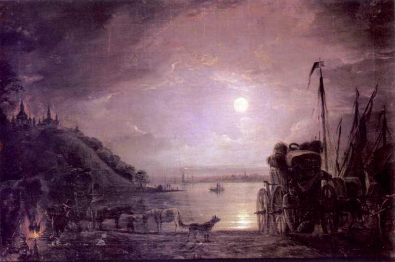1840-і рр. Переправа біля Києва уночі
