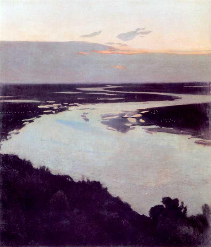 1891 р. Костенко С.П. Вечір над Дніпром