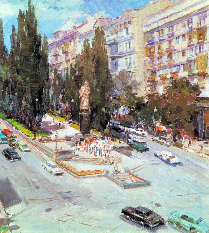 1969 р. Шишко С.Ф. Біля пам'ятника В. І. Леніну