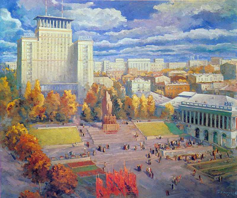 """1980 р. Загальний вигляд на готель """"Москва"""""""