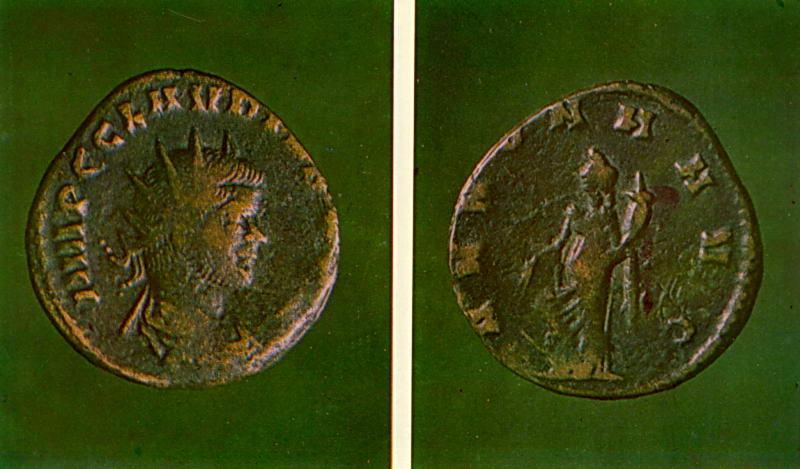 Монета Клавдія 2