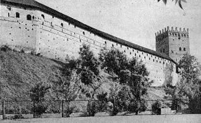 Мур біля Надбрамної башти. Вигляд з…