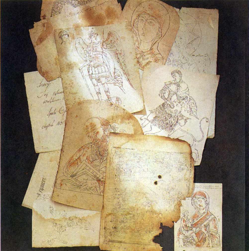 Прориси для ікон. 17 - 19 ст.
