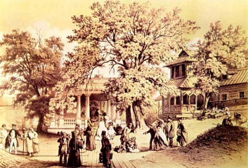 1859 р. Вхід до галереї, що веде до Дальніх печер