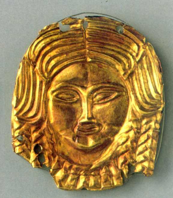 Бляшка у формі жіночої голови