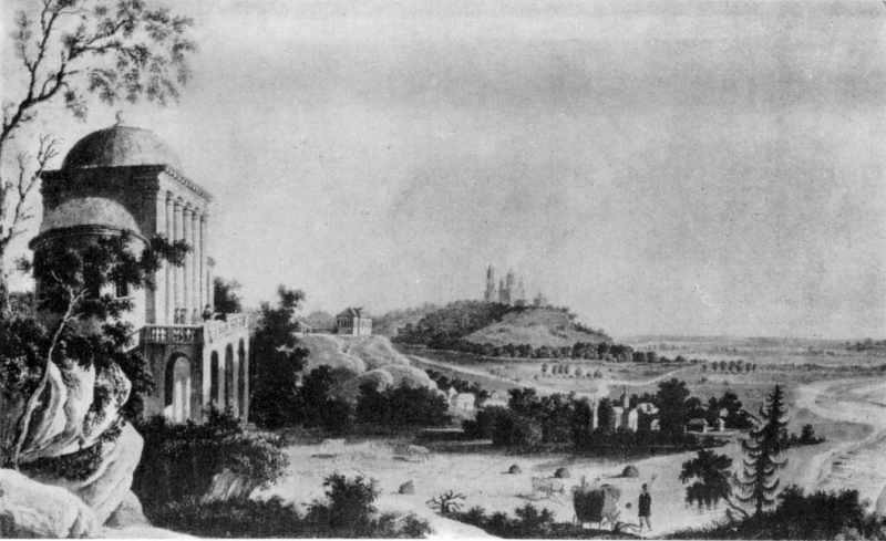Поч. 19 ст. Вид на Хрестовоздвиженський монастир