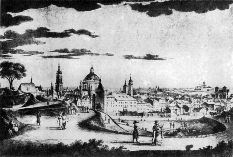 1826 р. Вид міста з північного сходу