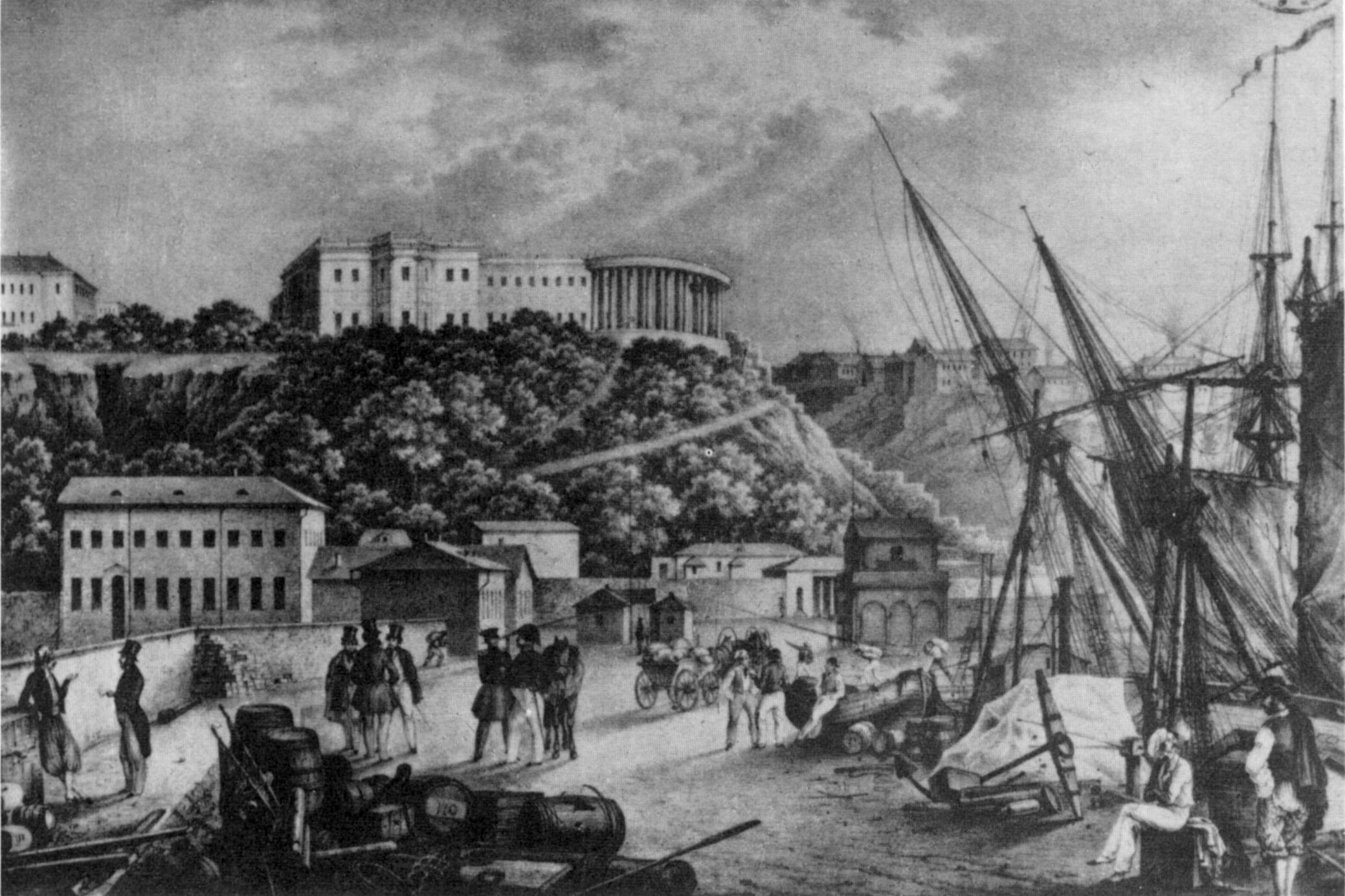 Сер. 19 ст. Вид з Малої пристані