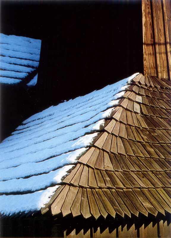 Фрагмент гонтового даху