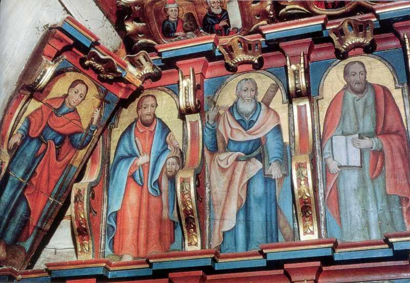 Апостольський ряд іконостасу, ліва…