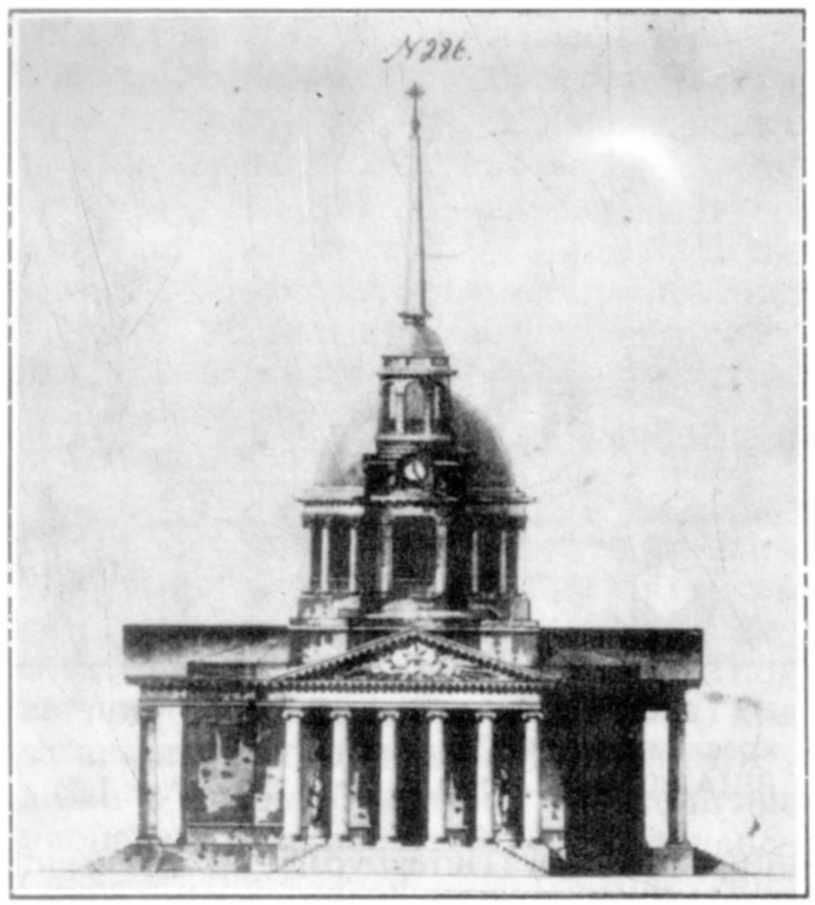 Фасад собору за проектом А.Захарова