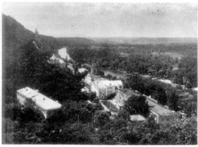 Святогірський Успенський монастир. Вигляд з південного сходу