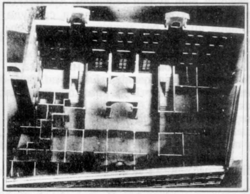План першого поверху. Фото з макету
