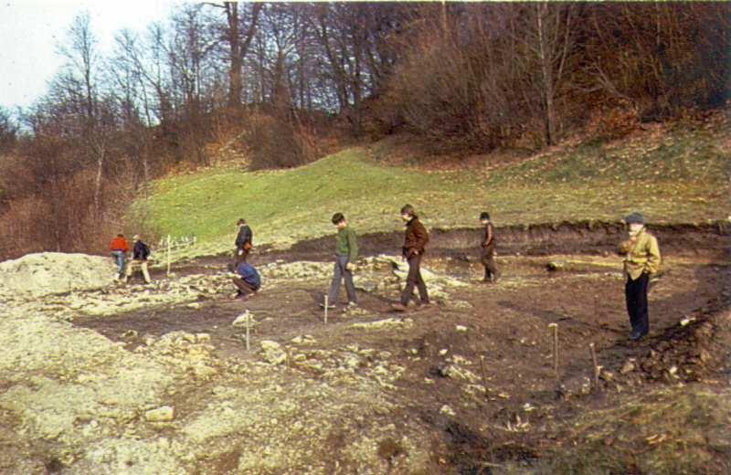 На місці археологічних розкопок 1986 р.