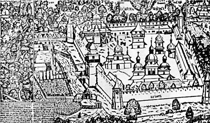1699 р. Загальний вигляд монастиря