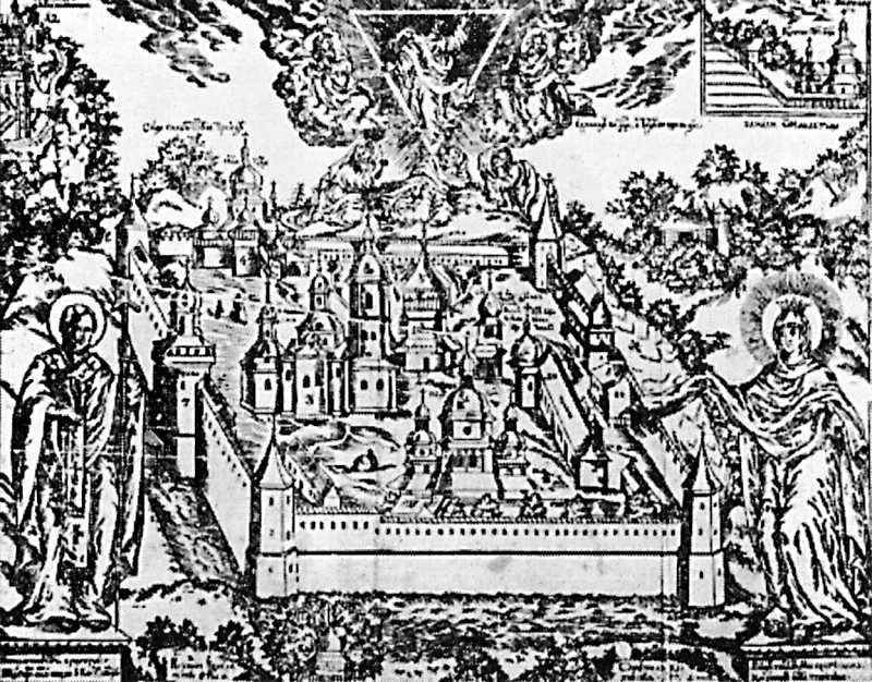 1704 р. Загальний вигляд монастиря